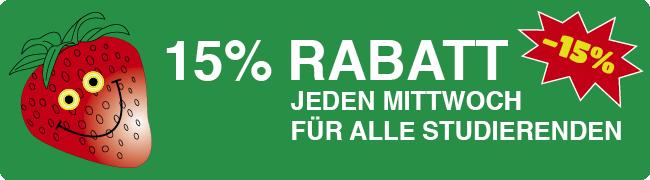 15% Rabatt Studenten